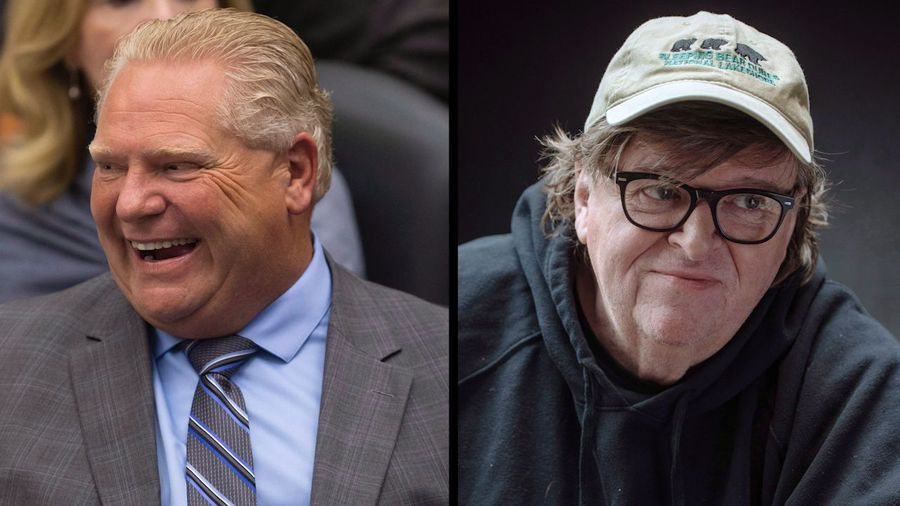 watch michael moore says ontarians were played by doug ford