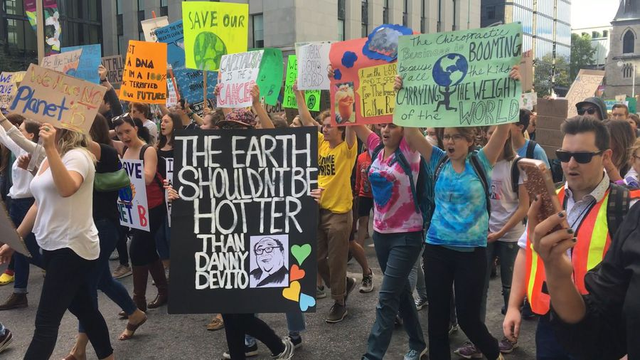 Students from Ottawa, Toronto and Halifax march against climate change