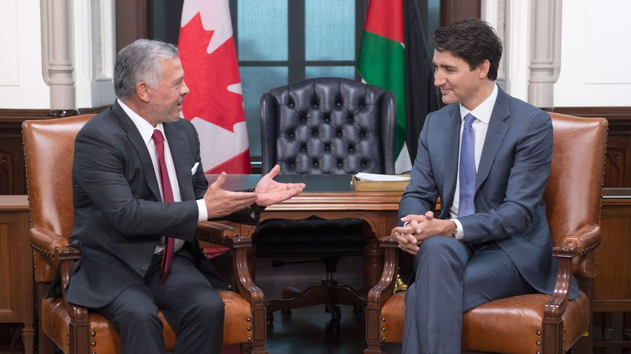Trudeau welcomes the King of Jordan