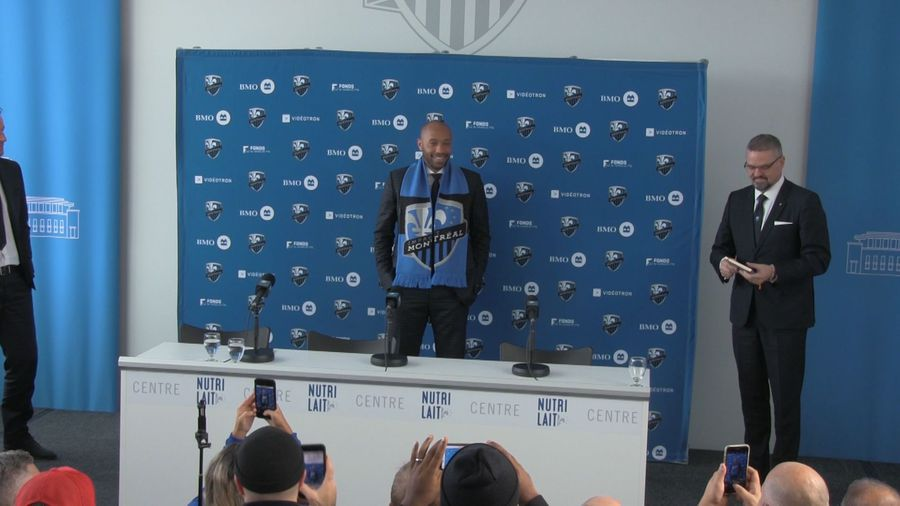 Montreal Impact unveil French soccer star Thierry Henry as new head coach