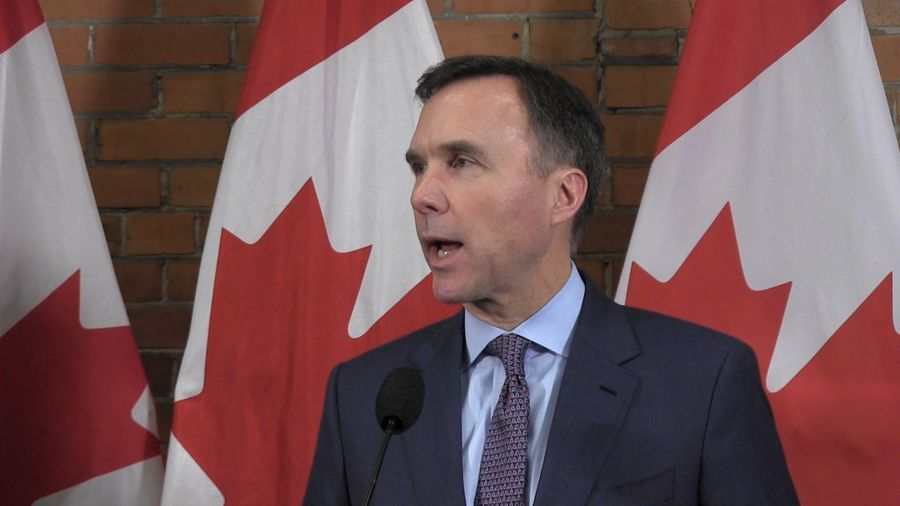 Finance minister Bill Morneau sits with Calgary business group in pre-budget consultation