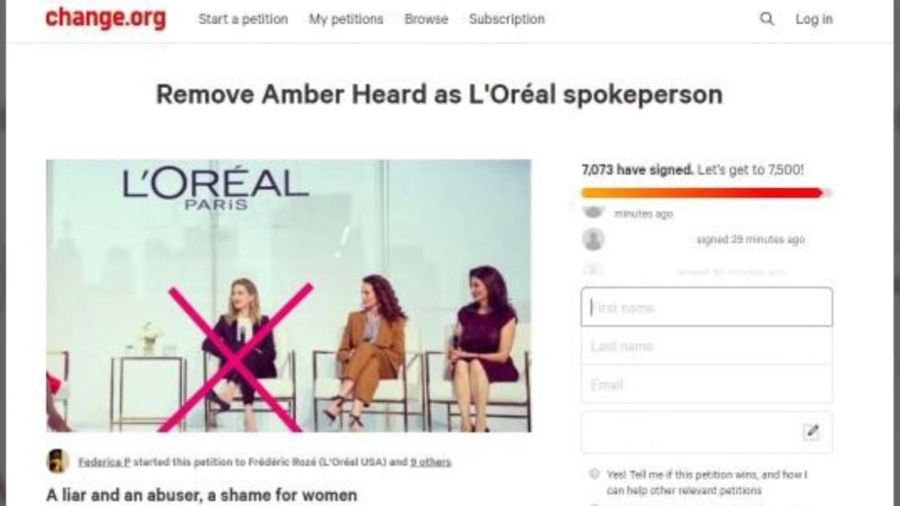 Johnny Depp fans petition for end to Amber Heard's L'Oreal contract