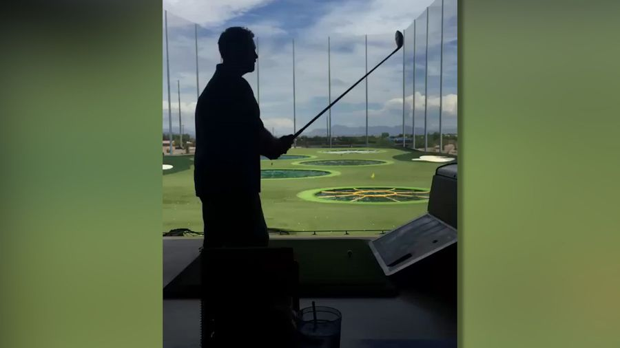 Training to be Tiger Woods...