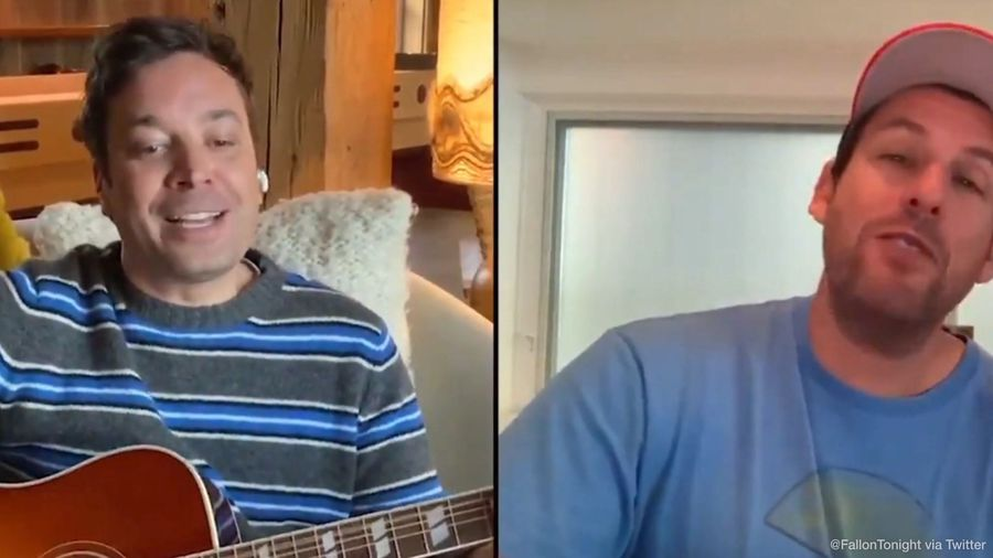 Adam Sandler and Jimmy Fallon team up for social distancing ditty