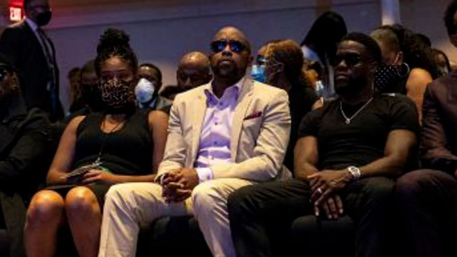 Kevin Hart and Tiffany Haddish lead celebrity mourners at first George Floyd memorial