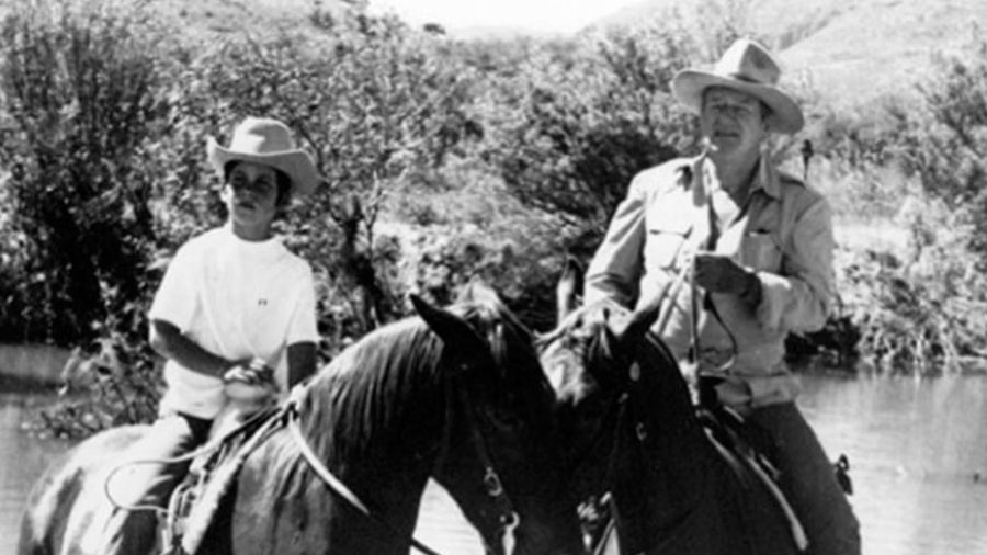 John Wayne's son defends dad from allegations of racism