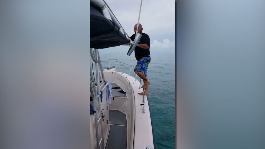 Painful accident on boat