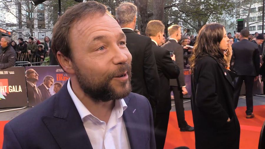 Stephen Graham shares what a joy it was to work with Robert De Niro, Al Pacino, Harvey Keitel and Jo