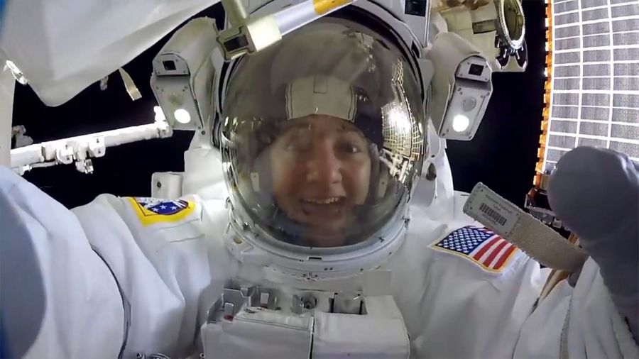 Amazing GoPro Footage Of First Female-Only Spacewalk
