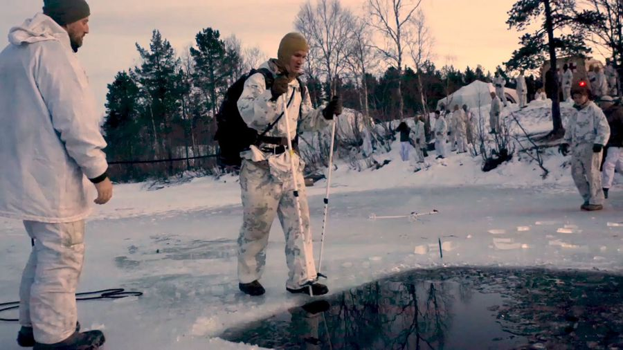 An Icy Dip With The U.S. Marines