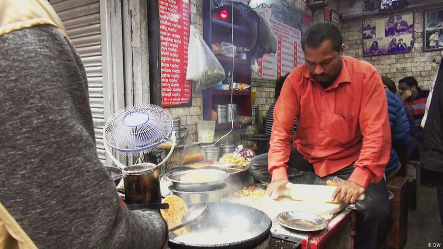 A traditional snack in Delhi
