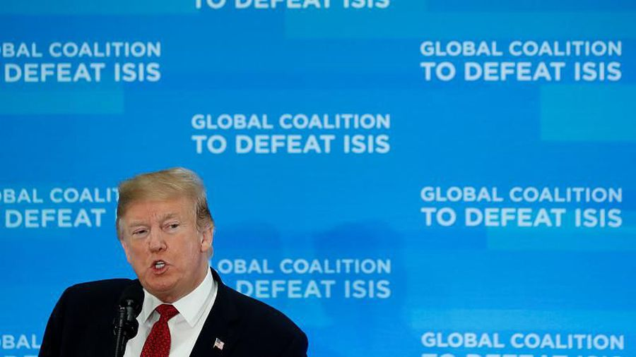 Trump says 100% of so-called Islamic State territory could be liberated by next week