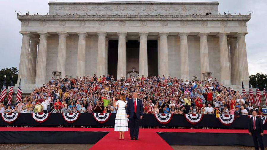 Watch: Trump hails military in flashy Independence Day celebration