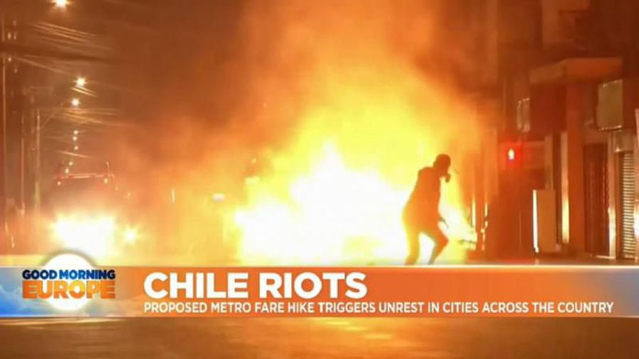 Fire and fury: Chile rocked by violent protests over metro fares