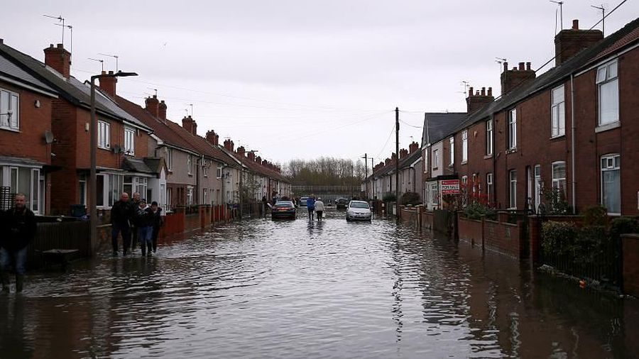 Dozens of flood warnings in UK as heavy rain expected to continue