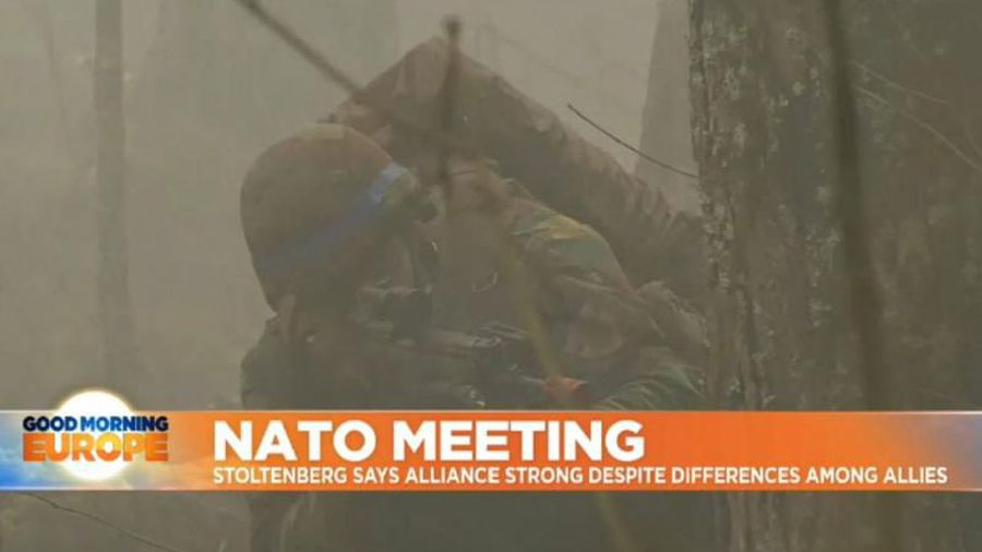 Watch live: NATO chief Jens Stoltenberg is set to speak as the defence alliance meets in Brussels