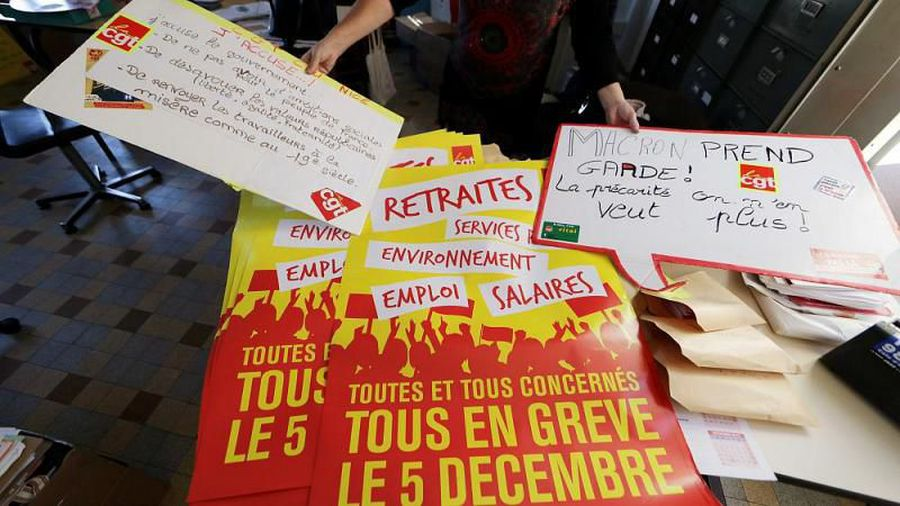 France at standstill as country strikes over pension reforms