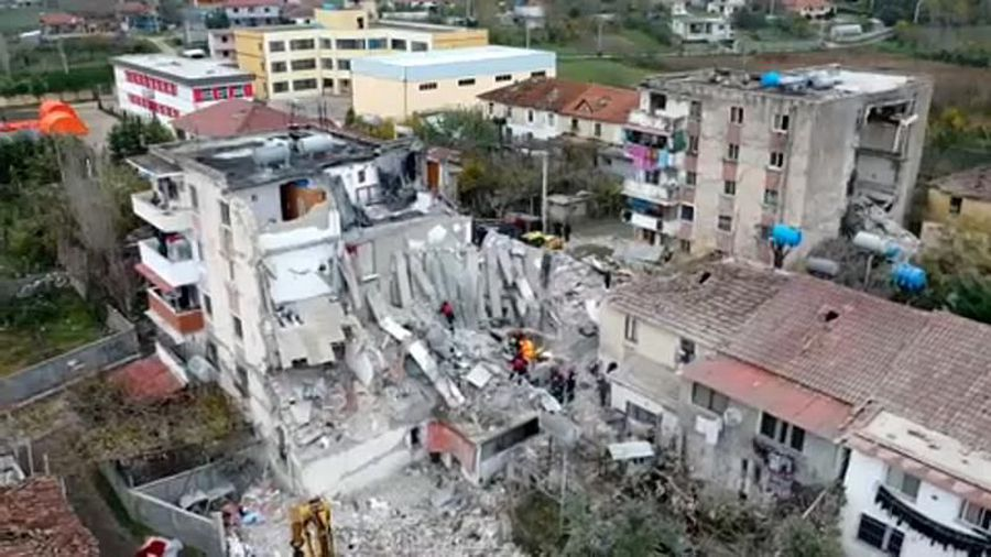 Albania arrests nine people over deaths in collapsed buildings after the earthquake
