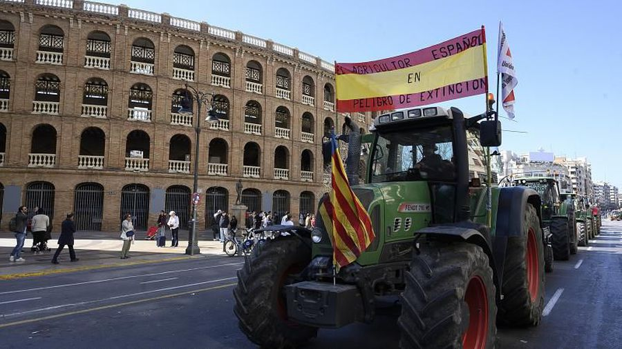 Why are Spanish farmers protesting against low prices?
