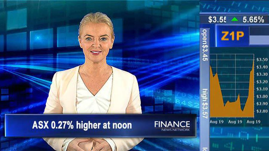 Zip Co see customer boost: ASX 0.27% higher at noon