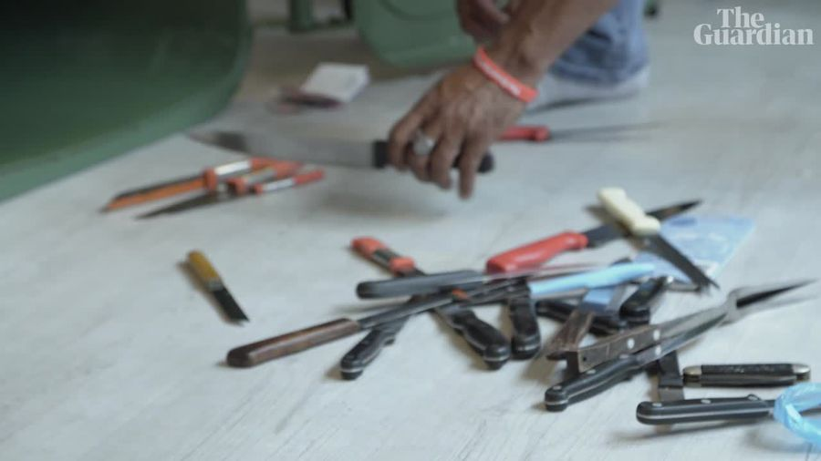One man's fight to get knives off the streets of London – video