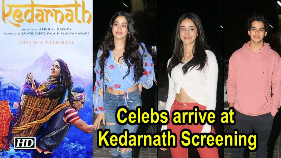 Janhvi Kapoor, Ishaan Khatter, and more arrive at Kedarnath Screening