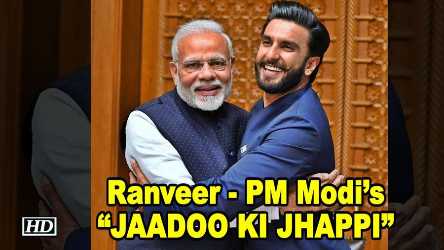 Ranveer & PM Modis JAADOO KI JHAPPI breaking the internet