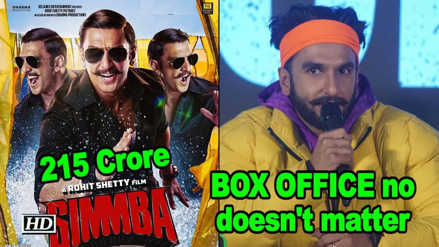 BOX OFFICE numbers doesn't matter to Ranveer Singh