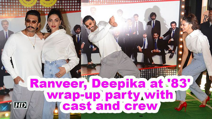 Ranveer deepika at 83 wrapup party with cast and crew