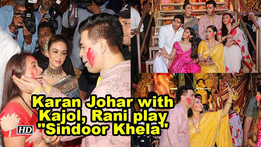 Dussehra celebrations karan johar with kajol rani play sindoor khela