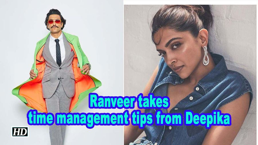 Ranveer takes time management tips from deepika
