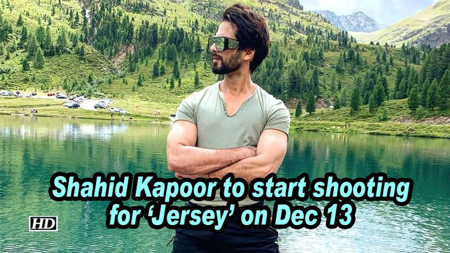 Shahid kapoor to start shooting for jersey on dec 13
