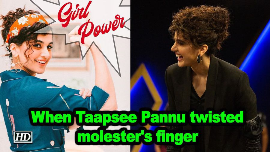 When taapsee pannu twisted molesters finger