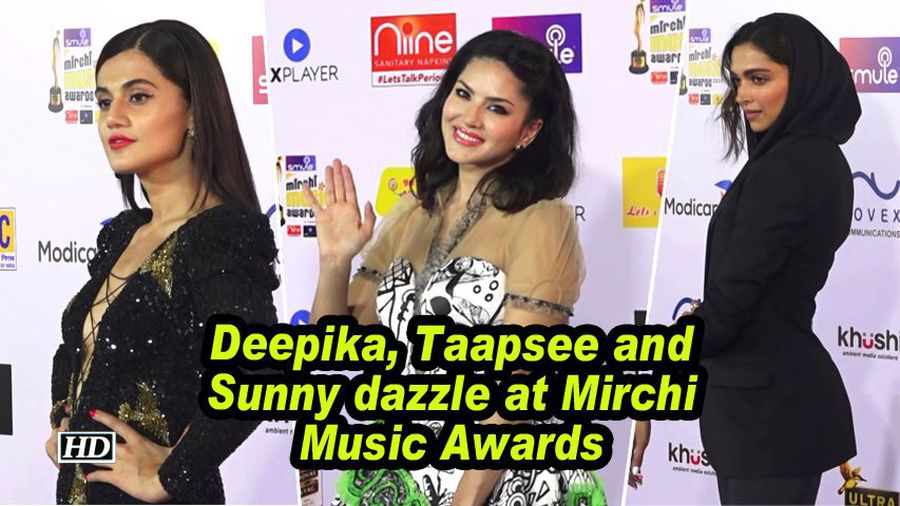 Deepika, Taapsee and Sunny dazzle at Mirchi Music Awards