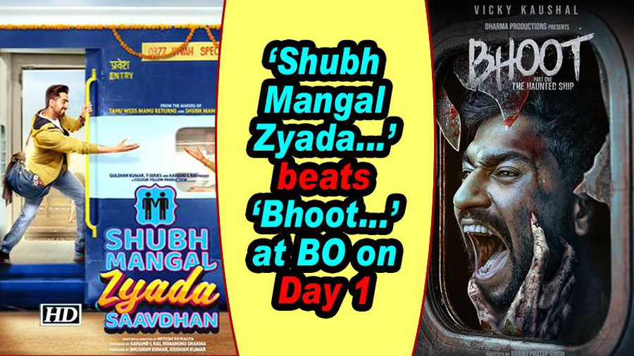 Shubh Mangal Zyada...' beats 'Bhoot...' at BO on Day 1