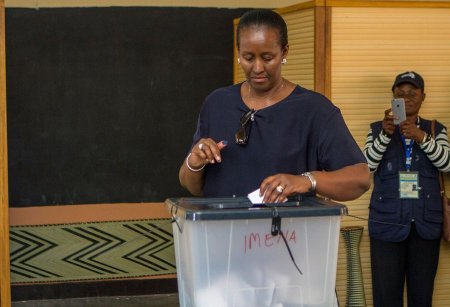 Rwanda's first lady says gender inequality hinders fight against AIDS