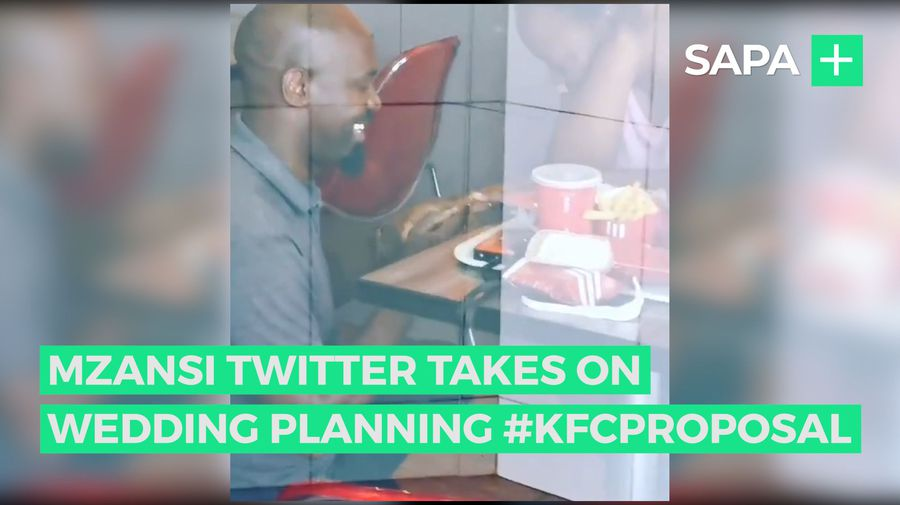 Mzansi Twitter planning wedding for #KFCPROPOSAL couple