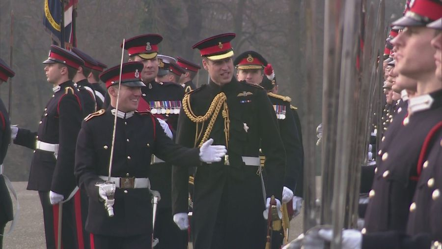Prince William represents the Queen at Sovereign's Parade