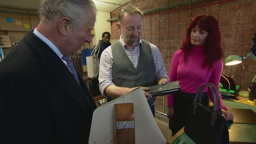 Prince Charles tours Albert Dock and Maritime Museum