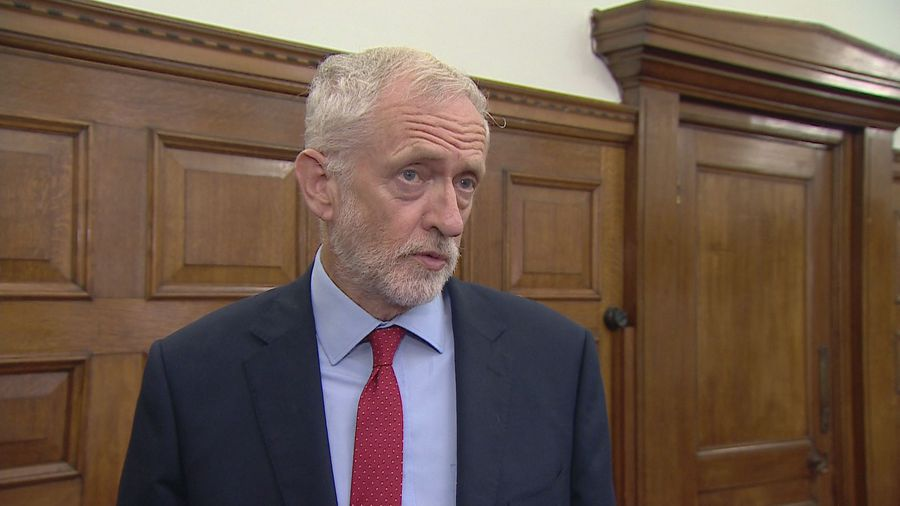 Jeremy Corbyn calls on parties to make him caretaker PM