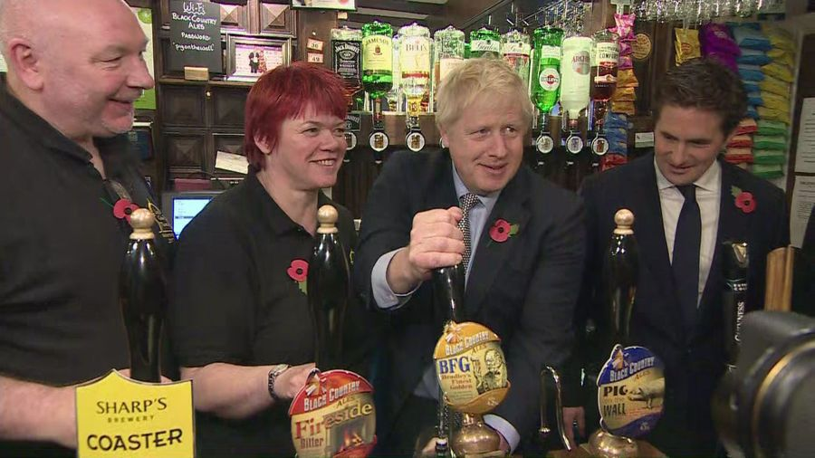PM jokes he isn't allowed a drink until Brexit is done