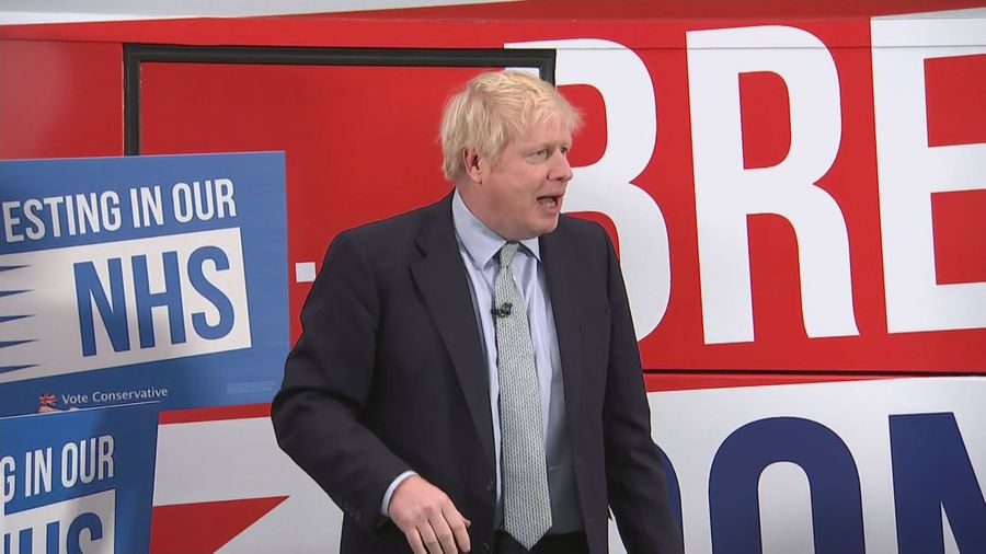 Boris Johnson unveils Tory's 'Get Brexit Done' election bus