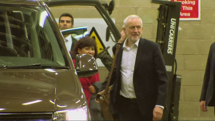 Jeremy Corbyn departs first TV election debate