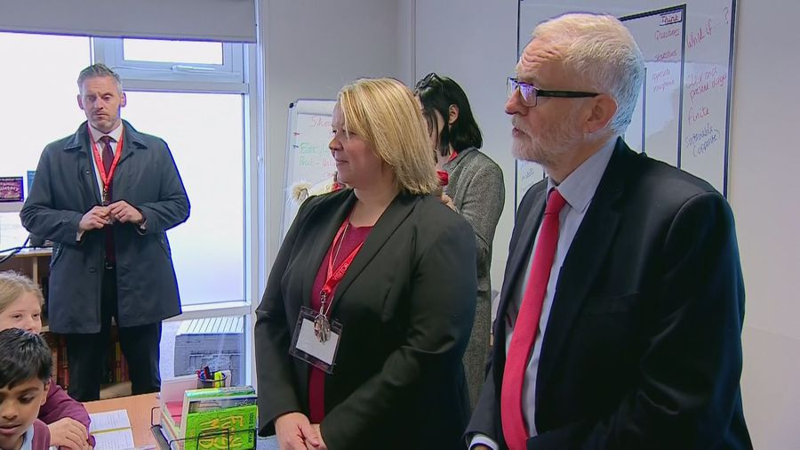 School pupil asks Jeremy Corbyn why he wants to be PM