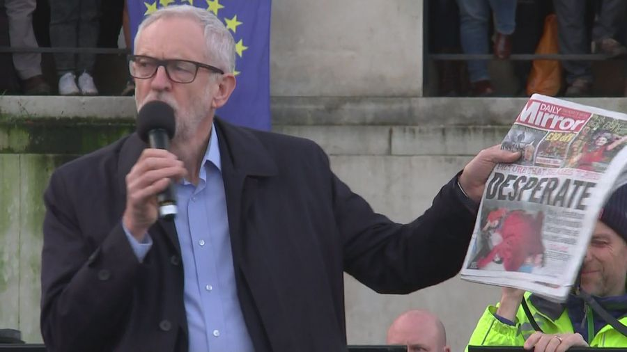 Corbyn: 'It's time to bring Tory regime to an end'