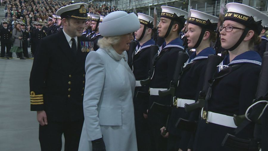 New aircraft carrier commissioned by royal couple