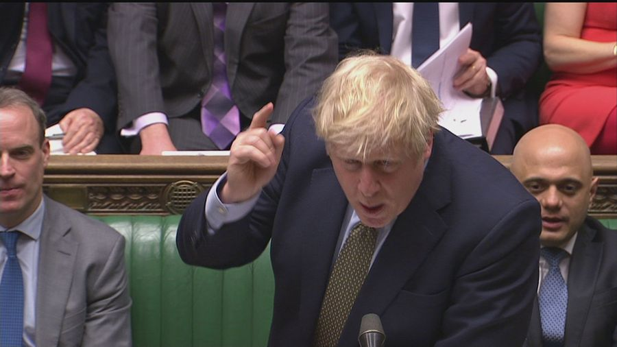 Corbyn and Johnson clash over NHS spending at PMQs