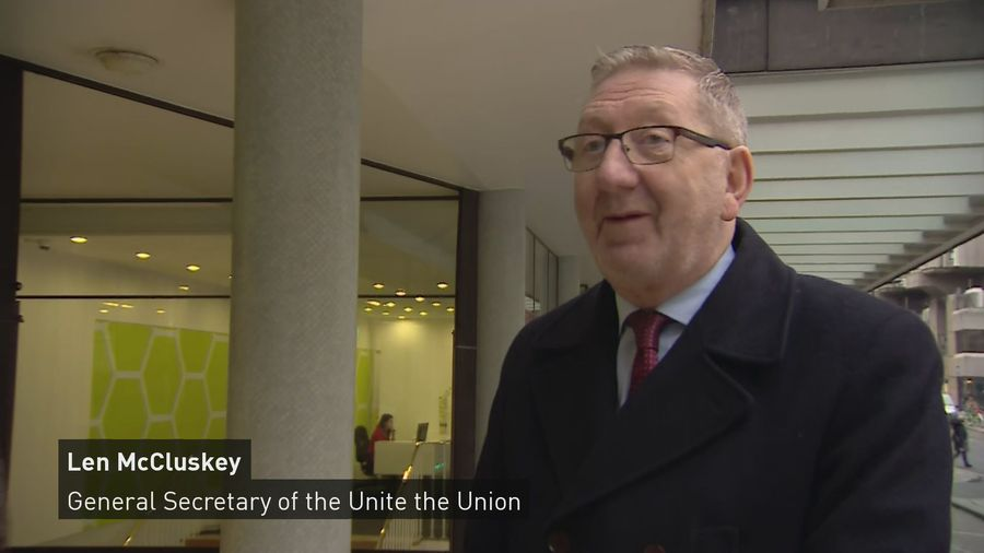 Len McCluskey on Labour leadership contest and Jeremy Corbyn