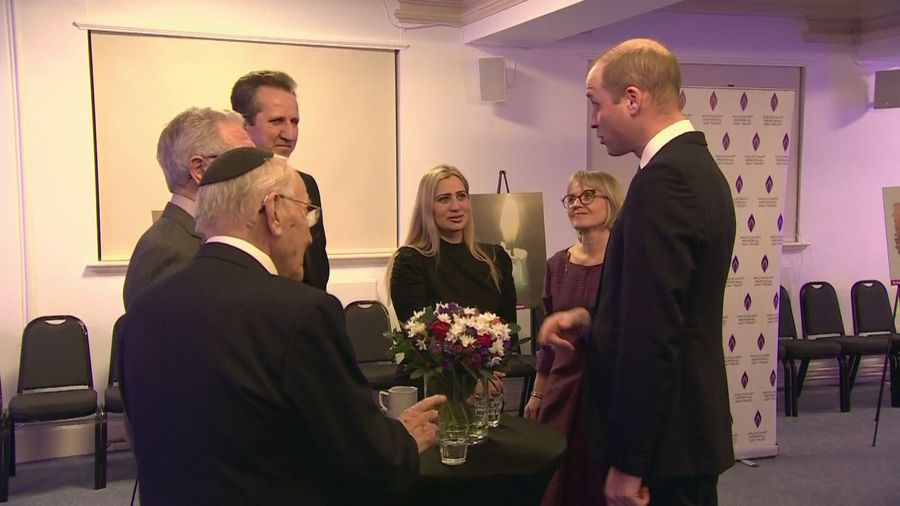 Duke and Duchess of Cambridge meet Holocaust survivors
