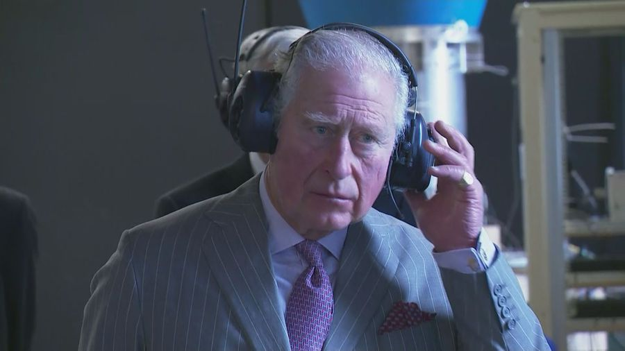 Prince of Wales tours Whittle Laboratory in Cambridge